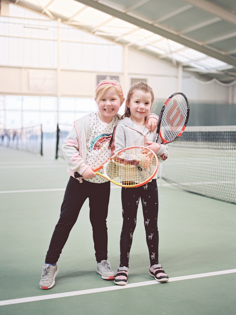Portrait of young tennis players